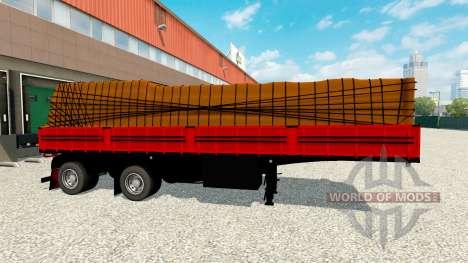 Бортовой полуприцеп с грузом для Euro Truck Simulator 2