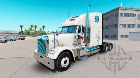 Скин FTI Transport на тягач Freightliner Classic для American Truck Simulator