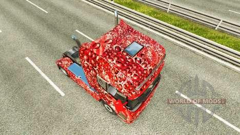 Скин Coca-Cola Bubbles на тягач Scania для Euro Truck Simulator 2