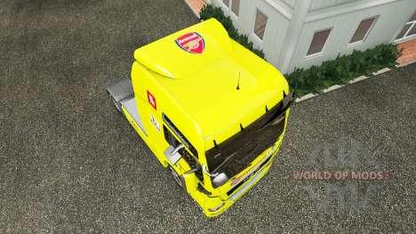 Скин Arsenal на тягач MAN для Euro Truck Simulator 2