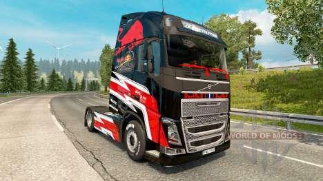 Скин Red Bull на тягач Volvo для Euro Truck Simulator 2