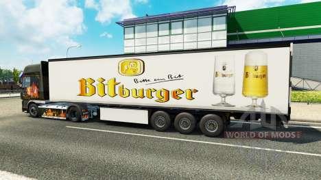 Скин Bitburger на полуприцеп для Euro Truck Simulator 2