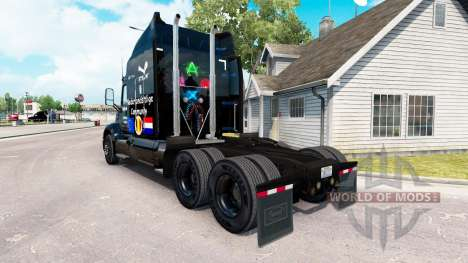 Скин Up2Gaming на тягач Peterbilt для American Truck Simulator