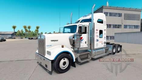 Скин Pepsi на тягач Kenworth W900 для American Truck Simulator