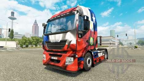 Скин Chile Copa 2014 на тягач Iveco для Euro Truck Simulator 2