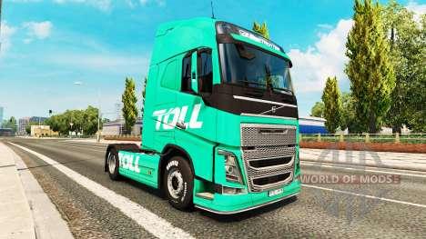 Скин Toll на тягач Volvo для Euro Truck Simulator 2