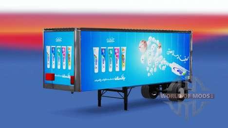 Иранские скины на полуприцепы для American Truck Simulator