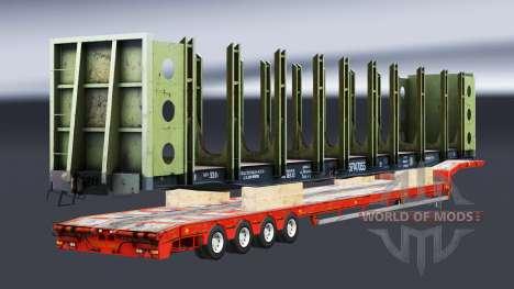 Полуприцепы с железнодорными составами v1.4.1 для Euro Truck Simulator 2