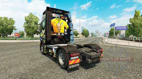 Скин Brasil 2014 на тягач Volvo для Euro Truck Simulator 2