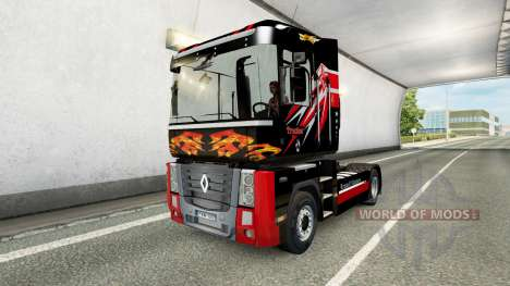 Скин Trucker на тягач Renault для Euro Truck Simulator 2