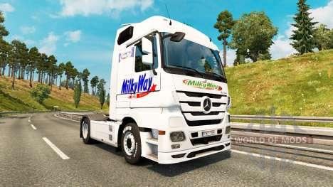 Скин Milky Way на тягач Mercedes-Benz для Euro Truck Simulator 2