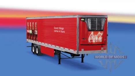 Рефрижераторный полуприцеп Coca-Cola для American Truck Simulator
