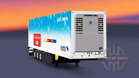 Полуприцеп рефрижераторный Schmitz Cargobull для Euro Truck Simulator 2