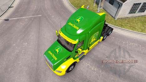 Скин John Deere на тягач Peterbilt для American Truck Simulator