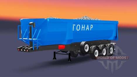 Полуприцеп-самосвал Тонар для Euro Truck Simulator 2