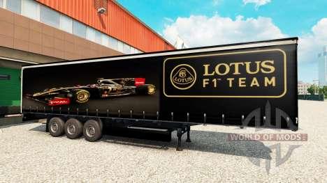 Скин F1 Lotus на полуприцеп для Euro Truck Simulator 2