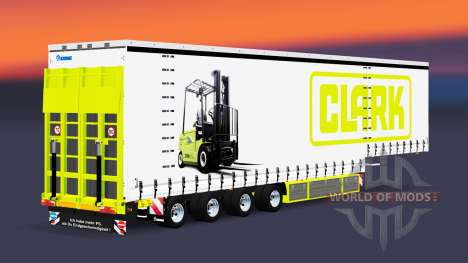 Четырёхосный шторный полуприцеп Krone v5.0 для Euro Truck Simulator 2