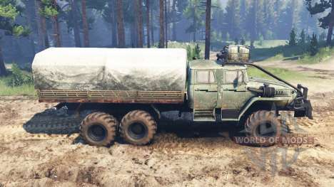 Урал-4320-40 1982 v2.0 для Spin Tires