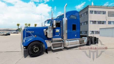 Скин YRC Freight на тягач Kenworth W900 для American Truck Simulator