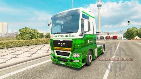 Скин Westdijk B.V. на тягач MAN для Euro Truck Simulator 2