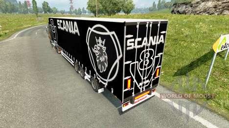 Шторный полуприцеп Scania V8 для Euro Truck Simulator 2