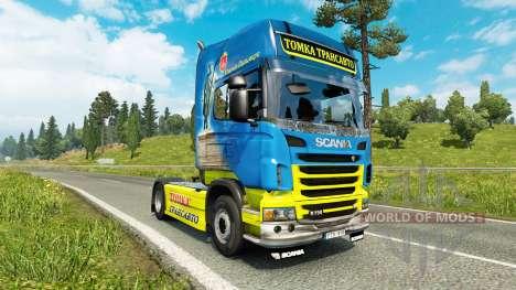 Скин Tomka на тягач Scania для Euro Truck Simulator 2