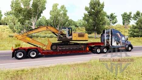 Низкорамный трал с негабаритным грузом для American Truck Simulator