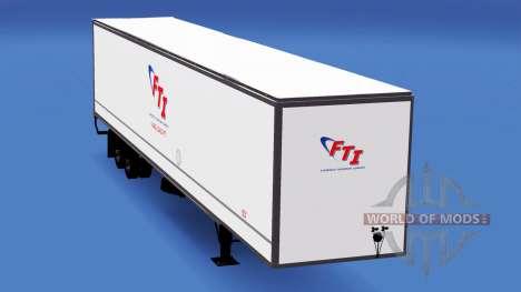 Цельнометаллический полуприцеп FTI для American Truck Simulator