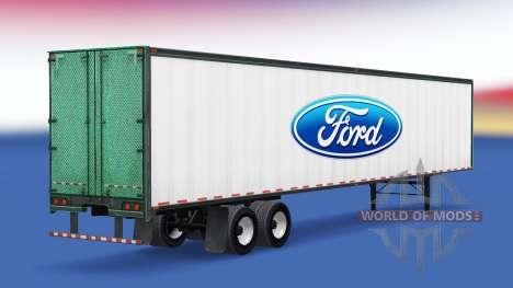 Скин Ford на полуприцеп для American Truck Simulator