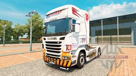 Скин CSAD Turnov на тягач Scania для Euro Truck Simulator 2