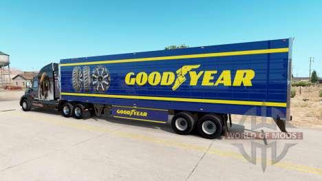 Скин Goodyear на рефрижераторный полуприцеп для American Truck Simulator