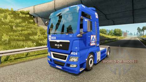 Скин Aldi на тягач MAN для Euro Truck Simulator 2