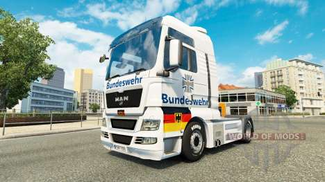 Скин Bundeswehr на тягач MAN для Euro Truck Simulator 2