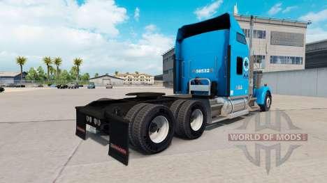 Скин Gordon Trucking на тягач Kenworth W900 для American Truck Simulator