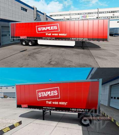 Скин Staples Inc. на полуприцеп для American Truck Simulator
