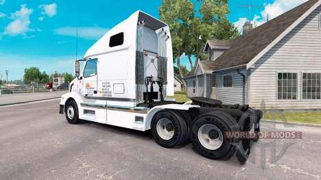 Скин Daybreak Express на тягач Volvo VNL 670 для American Truck Simulator