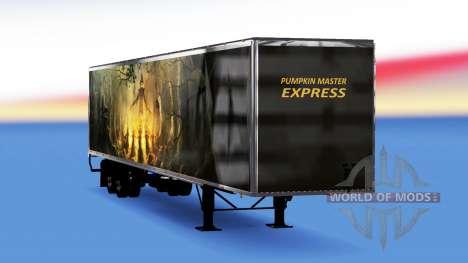Цельнометаллический полуприцеп Pumpkin для American Truck Simulator