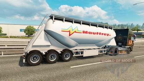 Сборник скинов на цементный полуприцеп для Euro Truck Simulator 2