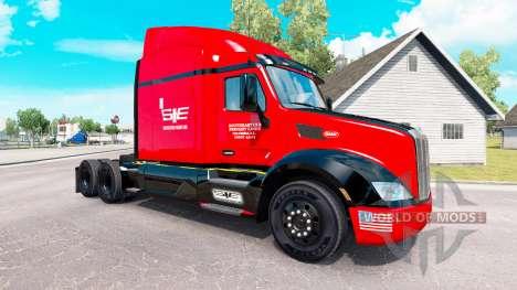 Скин SouthEastern на тягач Peterbilt для American Truck Simulator