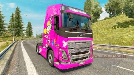 Скин Dee Dee на тягач Volvo для Euro Truck Simulator 2