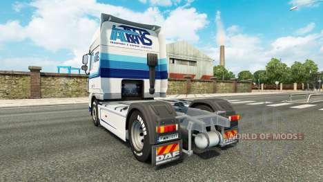 Скин Italtrans на тягач DAF для Euro Truck Simulator 2