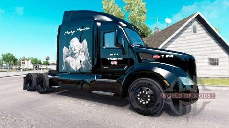 Скин Marilyn Monroe на тягач Peterbilt для American Truck Simulator