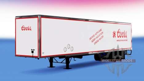 Цельнометаллический полуприцеп Coors для American Truck Simulator