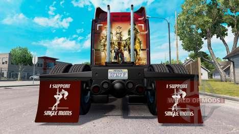 Брызговики I Support Single Moms v1.4 для American Truck Simulator
