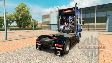 Скин Mass Effect на тягач Scania для Euro Truck Simulator 2