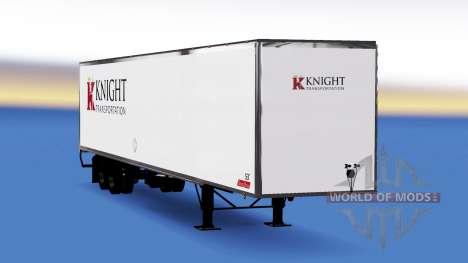 Скин Knight Transportation на полуприцеп для American Truck Simulator