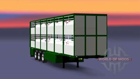 Полуприцеп-скотовоз Ferkel Trans для Euro Truck Simulator 2