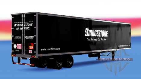 Цельнометаллический полуприцеп Bridgestone для American Truck Simulator