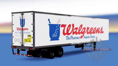 Цельнометаллический полуприцеп Walgreens для American Truck Simulator