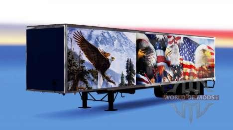 Цельнометаллический полуприцеп Eagle для American Truck Simulator